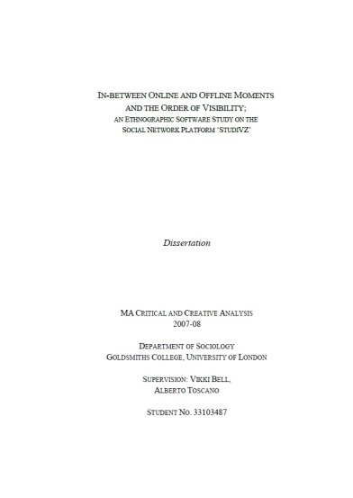 Completed Master Theses and Diplomarbeiten
